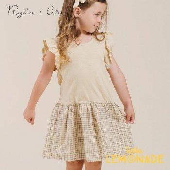 【Rylee+Cru】 grid coury dress 【12-18か月/18-24か月/2-3歳/4-5歳】 RC325BU アイボリー ワンピース ライリーアンドクルー 2021SS ykz