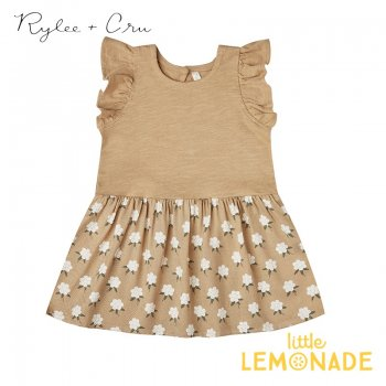 【Rylee+Cru】 white flora coury dress  【12-18か月/18-24か月/2-3歳/4-5歳】 RC325AD ライリーアンドクルー 2021SS