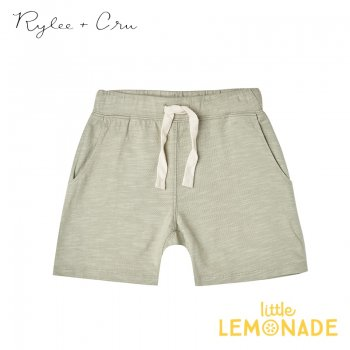 【Rylee+Cru】 boys slub short 【2-3歳/4-5歳/6-7歳】 RC254SE グリーン パンツ 半ズボン ハーフパンツ ライリーアンドクルー 2021SS ykz