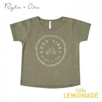 【Rylee+Cru】good vibes tee【2-3歳/4-5歳/6-7歳】 RC006FN Tシャツ 半袖 ライリーアンドクルー 2021SS ykz