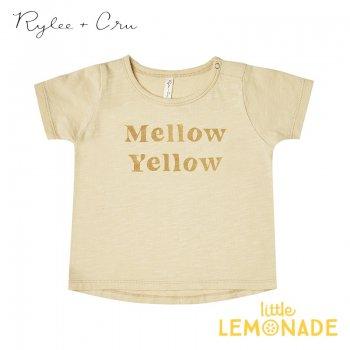 【Rylee+Cru】 mellow yellow tee【2-3歳/4-5歳/6-7歳】 RC006BU Tシャツ 半袖 ライリーアンドクルー 2021SS ykz