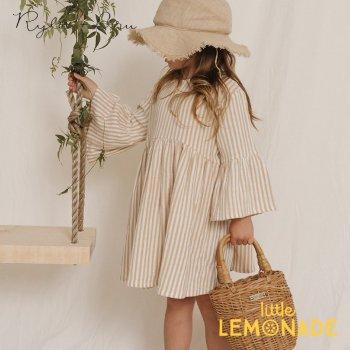 【Rylee+Cru】 striped bell dress ALMOND 【18-24か月/2-3歳/4-5歳/6-7歳/8-9歳】 RCR093AD ライリーアンドクルー 2021SS ykz
