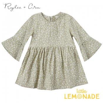 【Rylee+Cru】 sage garden bell dress 【2-3歳/4-5歳/6-7歳/8-9歳】 RCR093SE グリーン ワンピース ライリーアンドクルー 2021SS ykz