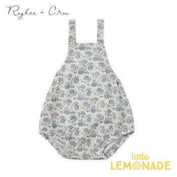 【Rylee+Cru】 roses norah romper 【6-12か月/12-18か月/18-24か月】 RCR082VY ブルー ロンパース ライリー&クルー 2021SS ykz SALE
