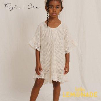 【Rylee+Cru】  crochet cover up SHELL 【4-5歳/6-7歳/8-9歳】 RCR316HL ワンピース 半袖 ライリーアンドクルー 2021SS ykz
