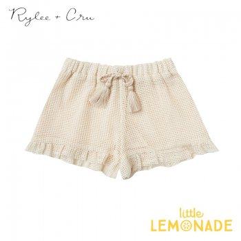 【Rylee+Cru】 cardiff ruffle short SHELL 【2-3歳/4-5歳/6-7歳/8-9歳】 RCR317HL  ハーフパンツ ライリーアンドクルー 2021SS ykz
