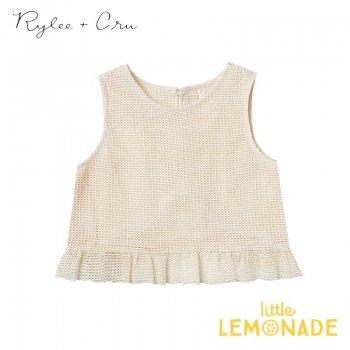 【Rylee+Cru】 leonie top SHELL【2-3歳/4-5歳/6-7歳/8-9歳】 RCR315HL  トップス ライリーアンドクルー 2021SS ykz