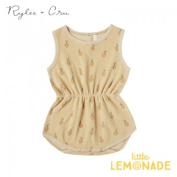 【Rylee+Cru】 lemons cinch playsuit  BUTTER【2-3歳】 RCR086BU ロンパース ライリーアンドクルー 2021SS ykz SALE