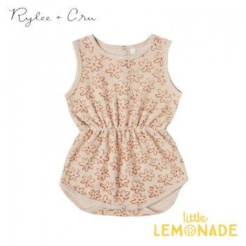 【Rylee+Cru】 flower outline cinch playsuit  SHELL  【2-3歳】RCR086HL 2021SS ykz