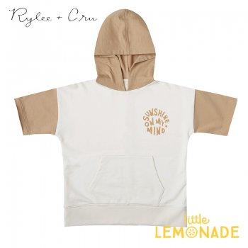 【Rylee+Cru】 short sleeve hoodie IVORYALMOND 【4-5歳/6-7歳/8-9歳/10-12歳】 RCR167VY ライリーアンドクルー 2021SS ykz