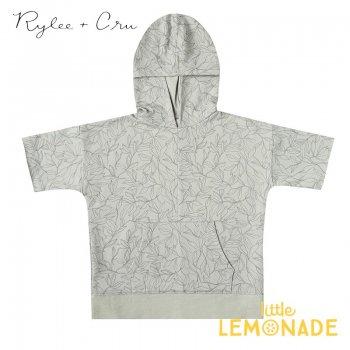 【Rylee+Cru】fern short sleeve hoodie BLUE-FOG 【4-5歳/6-7歳/8-9歳/10-12歳】 RCR167BF ライリーアンドクルー 2021SS ykz