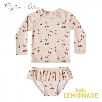 【Rylee+Cru】  cherries rashguard girl set 【12-18か月/18-24か月/2-3歳】 水着 RCR234HL ライリーアンドクルー 2021SS ykz
