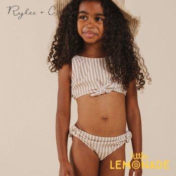 【Rylee+Cru】  striped knotted bikini ALMOND 【2-3歳/4-5歳】 水着 RCR224AD ライリーアンドクルー 2021SS ykz