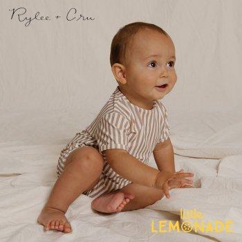 【Rylee+Cru】 striped shorty onepiece ALMOND  【12-18か月/18-24か月/2-3歳】 RCR312ADE ライリーアンドクルー 2021SS ykz
