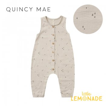 <img class='new_mark_img1' src='https://img.shop-pro.jp/img/new/icons1.gif' style='border:none;display:inline;margin:0px;padding:0px;width:auto;' />【Quincy Mae】 WOVEN BUTTON JUMPSUIT  ASH GEO 【6-12か月/12-18か月/18-24か月】 QM047AH SS21 ジャンプスーツ  YKZ