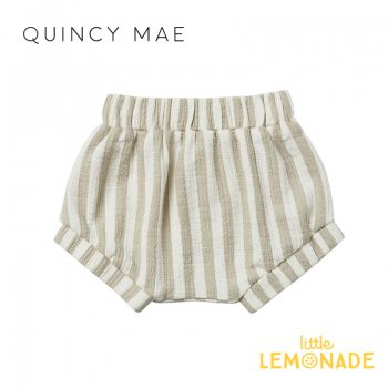 <img class='new_mark_img1' src='https://img.shop-pro.jp/img/new/icons1.gif' style='border:none;display:inline;margin:0px;padding:0px;width:auto;' />【Quincy Mae】 WOVEN BLOOMER SAGE-STRIPE 【6-12か月/12-18か月/18-24か月/2-3歳】 QM083ER SS21 ストライプ ブルマ  YKZ