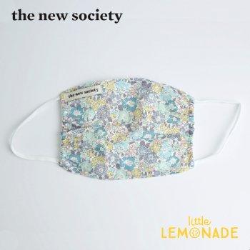 【The New Society】 CAMILA MASK キッズサイズマスク ブルー リバティ 花柄 子供用 21SS  YKZ