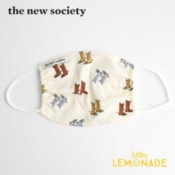 【The New Society】 ELEONORA MASK キッズサイズマスク カウボーイブーツ柄 子供用 21SS  YKZ