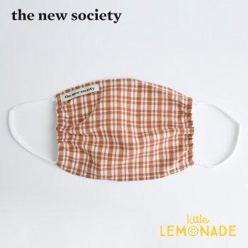 【The New Society】 ARLETTE MASK キッズサイズマスク 赤チェック柄 子供用 21SS  YKZ