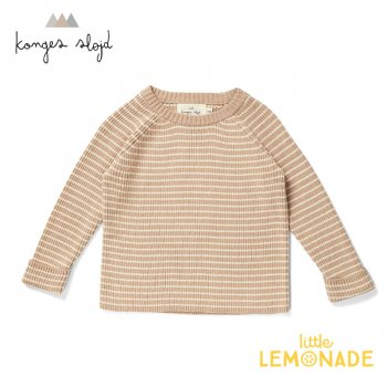 <img class='new_mark_img1' src='https://img.shop-pro.jp/img/new/icons1.gif' style='border:none;display:inline;margin:0px;padding:0px;width:auto;' />【Konges Sloejd】 MEO KNIT BLOUSE COTTON 【1歳/2歳/3歳】 ニットブラウス/オフホワイト トップス コンゲススロイド 21SS  (KS1524)