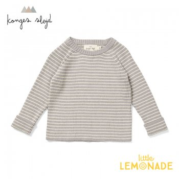 <img class='new_mark_img1' src='https://img.shop-pro.jp/img/new/icons1.gif' style='border:none;display:inline;margin:0px;padding:0px;width:auto;' />【Konges Sloejd】 MEO KNIT BLOUSE COTTON 【1歳/2歳/3歳】 ニットブラウス/パウダーブルー トップス コンゲススロイド 21SS  (KS1524)