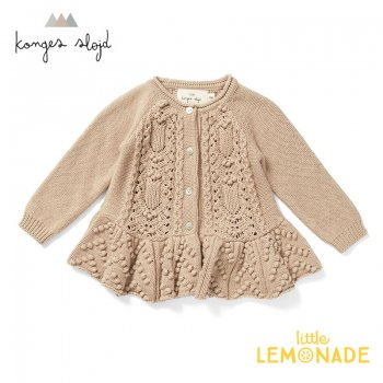 <img class='new_mark_img1' src='https://img.shop-pro.jp/img/new/icons1.gif' style='border:none;display:inline;margin:0px;padding:0px;width:auto;' />【Konges Sloejd】 CABBY FRILL CARDIGAN 【1歳/2歳/3歳】 MOONLIGHT【ベージュ】カーディガン トップス コンゲススロイド 21SS  (KS2040)