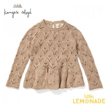 <img class='new_mark_img1' src='https://img.shop-pro.jp/img/new/icons1.gif' style='border:none;display:inline;margin:0px;padding:0px;width:auto;' />【Konges Sloejd】 FORTUNE LACE KNIT【12か月/18か月/2歳/3歳】MOONLIGHT トップス ニット コンゲススロイド 21SS  (KS2075)