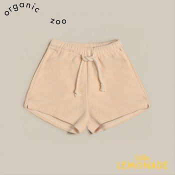 <img class='new_mark_img1' src='https://img.shop-pro.jp/img/new/icons1.gif' style='border:none;display:inline;margin:0px;padding:0px;width:auto;' />【organic zoo】 Pebble Terry Rope Shorts 【0-6か月/6-12か月/1-2歳/2-3歳/3-4歳】パイル素材 オフホワイト (RSPOZ) 21SS