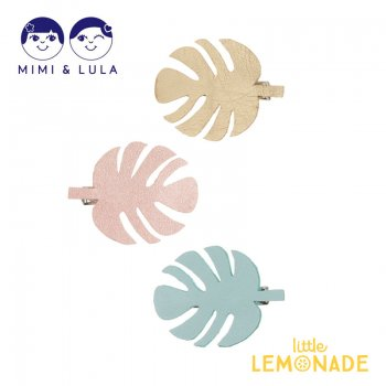 <img class='new_mark_img1' src='https://img.shop-pro.jp/img/new/icons1.gif' style='border:none;display:inline;margin:0px;padding:0px;width:auto;' />【Mimi&Lula】 PALM LEAF CLIPS DINOLAND/パルムリーフヘアクリップ3個セット 女の子 ヘアアクセサリー(70201270)