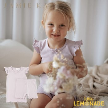 <img class='new_mark_img1' src='https://img.shop-pro.jp/img/new/icons1.gif' style='border:none;display:inline;margin:0px;padding:0px;width:auto;' />【Jamie Kay】 SUMMER PYJAMA - SOFT LILAC【1歳/2歳/3歳/4歳】 ライラック セットアップ パジャマ ルームウェア ジェイミーケイ