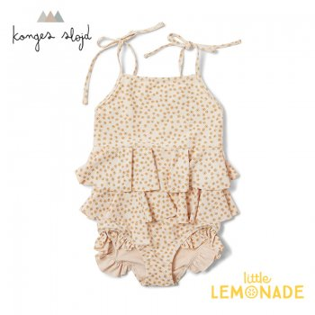 <img class='new_mark_img1' src='https://img.shop-pro.jp/img/new/icons1.gif' style='border:none;display:inline;margin:0px;padding:0px;width:auto;' />【Konges Sloejd】 MANUCA FRILL SWIMSUIT  【2歳/3歳】 BUTTERCUP YELLOW  水着 ワンピース コンゲススロイド 21SS  (KS1910)