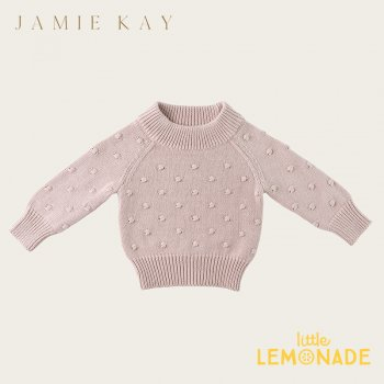 <img class='new_mark_img1' src='https://img.shop-pro.jp/img/new/icons1.gif' style='border:none;display:inline;margin:0px;padding:0px;width:auto;' />【Jamie Kay】 DOTTY KNIT (NEW NECK)- ROSEBUD   【1歳/2歳/3歳/4歳】 ドットニット トップス ジェイミーケイ