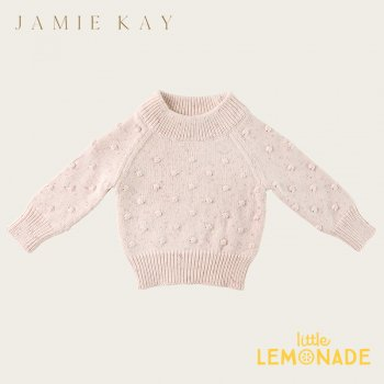 <img class='new_mark_img1' src='https://img.shop-pro.jp/img/new/icons1.gif' style='border:none;display:inline;margin:0px;padding:0px;width:auto;' />【Jamie Kay】 DOTTY KNIT (NEW NECK ) - PASTEL FLECK  【1歳/2歳/3歳/4歳】 ドットニット トップス ジェイミーケイ