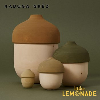 【Raduga Grez】 マトリョーシカ どんぐり 4点セット ロシア製 積み木 木製 おもちゃ 【Matryoshka Acorn】 RG02038