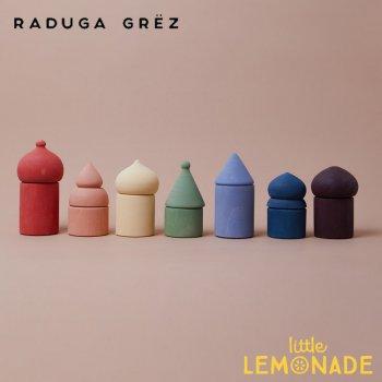 【Raduga Grez】  オールドシティーブロックセット 14個入り ロシア製 積み木 木製 おもちゃ 【Old city rainbow】 RG02035