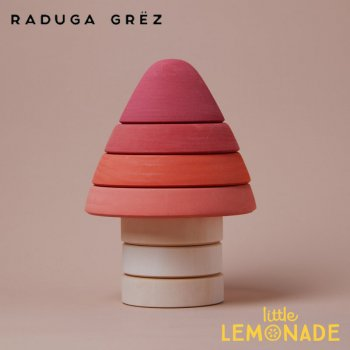 【Raduga Grez】  スタッキングタワー レッド ツリー ロシア製 積み木 木製 おもちゃ 【Amanita stacking tower】 RG04019