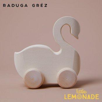 【Raduga Grez】  白鳥のおもちゃ 車輪付き ロシア製 積み木 木製 おもちゃ 【Vehicle White swan】 RG05025