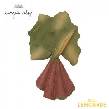 【Konges Sloejd】 TEETH SOOTHER VEGETABLES RHUBARB ルバーブ  歯固め やさいの形 はがため 野菜 歯がため おもちゃ
