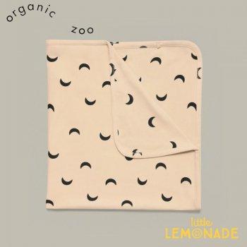 【organic zoo】 Pebble Midnight Reversible Blanket ブランケット お月さま柄 オーガニックコットン (BLPMOZ) 21SS