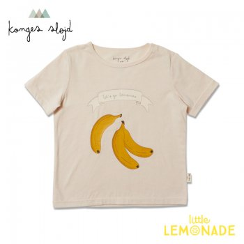 【Konges Sloejd】  FAMO TEE /CHAMPAGNE BANANA 【12か月/2歳/3歳】  Tシャツ 半袖 バナナ柄 KS2161 YKZ
