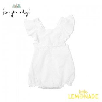 【Konges Sloejd】  ORCHID ROMPER /CLEAR WHITE 【6か月/12か月】  ロンパース ホワイト ベビー コンゲススロイド YKZ KS2251