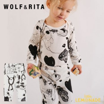 <img class='new_mark_img1' src='https://img.shop-pro.jp/img/new/icons1.gif' style='border:none;display:inline;margin:0px;padding:0px;width:auto;' />【WOLF&RITA】 FREDERICO LOVE THEATER  Leggings 【6-12か月/12-18か月/18-24か月】 落書き レギンス WRBAW21FELT 21AW YKZ