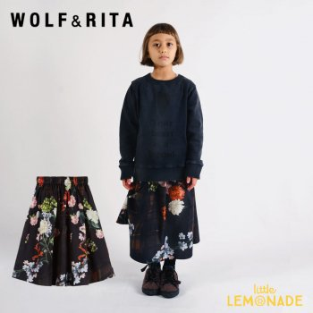 【WOLF&RITA】  LURDES WINTER LADY  SKIRT【4歳/6歳/8歳】 花柄 スカート WRAW21LURWL 21AW YKZ