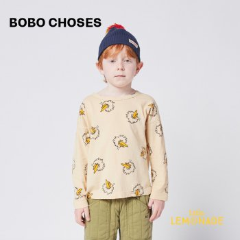 <img class='new_mark_img1' src='https://img.shop-pro.jp/img/new/icons1.gif' style='border:none;display:inline;margin:0px;padding:0px;width:auto;' />【BOBO CHOSES】 Birdie All Over long sleeve T-shirt 【2-3歳 / 4-5歳】  221AC002 Tシャツ ボボショーズ 21AW YKZ