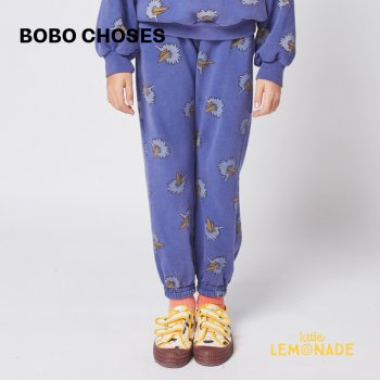 <img class='new_mark_img1' src='https://img.shop-pro.jp/img/new/icons1.gif' style='border:none;display:inline;margin:0px;padding:0px;width:auto;' />【BOBO CHOSES】 Birdie All Over jogging pants 【2-3歳 / 4-5歳】  221AC078  鳥 青 スウェットパンツ  21AW YKZ