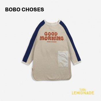 【BOBO CHOSES】 Good Morning fleece dress 【4-5歳 / 6-7歳 / 8-9歳】  221AC092  長袖 ワンピース  21AW YKZ