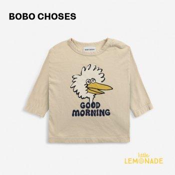 <img class='new_mark_img1' src='https://img.shop-pro.jp/img/new/icons1.gif' style='border:none;display:inline;margin:0px;padding:0px;width:auto;' />【BOBO CHOSES】 Birdie long sleeve T-shirt 【12-18か月 / 18-24か月】  221AB020 鳥 ベージュ Tシャツ 21AW YKZ