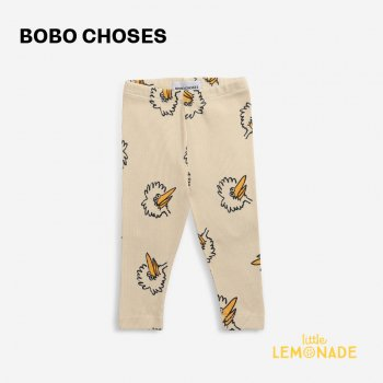 <img class='new_mark_img1' src='https://img.shop-pro.jp/img/new/icons1.gif' style='border:none;display:inline;margin:0px;padding:0px;width:auto;' />【BOBO CHOSES】 Birdie All Over leggings 【6-12か月 / 12-18か月】  221AB010  鳥 ベージュ レギンス 21AW YKZ