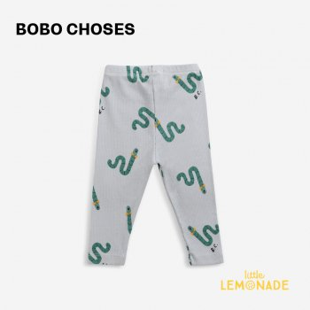 <img class='new_mark_img1' src='https://img.shop-pro.jp/img/new/icons1.gif' style='border:none;display:inline;margin:0px;padding:0px;width:auto;' />【BOBO CHOSES】 Scholar Worm All Over leggings 【3-6か月 / 6-12か月】  221AB011  あおむし ブルー レギンス 21AW YKZ