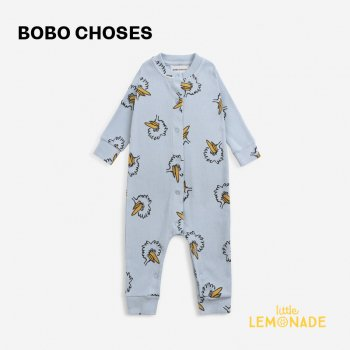 <img class='new_mark_img1' src='https://img.shop-pro.jp/img/new/icons1.gif' style='border:none;display:inline;margin:0px;padding:0px;width:auto;' />【BOBO CHOSES】 Birdie All Over overall 【6-12か月 / 12-18か月】  221AB059 鳥 ブルー 青 長袖オーバーオール 21AW YKZ